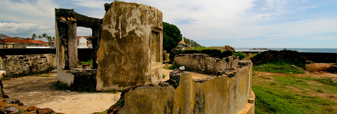 Ancient canon mount in Galle Fort